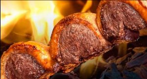 carne de boi espeto
